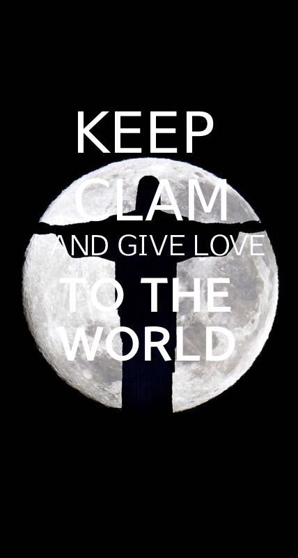 Keep clam and give love to the world