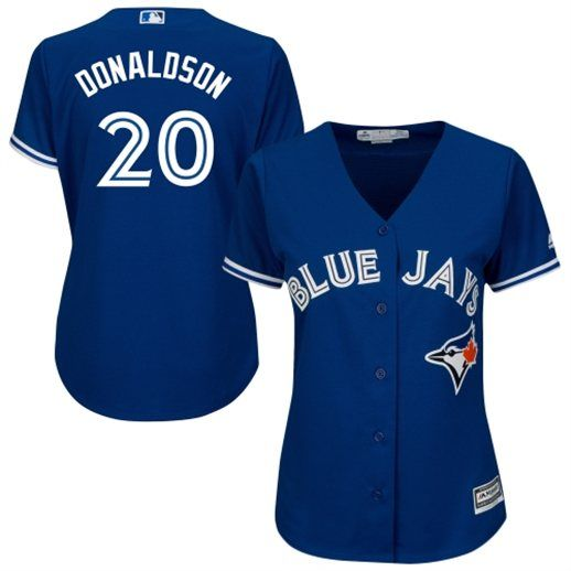 Josh Donaldson Toronto Blue Jays Women's Royal Blue Cool Base Jersey #bluejays #mlb #toronto