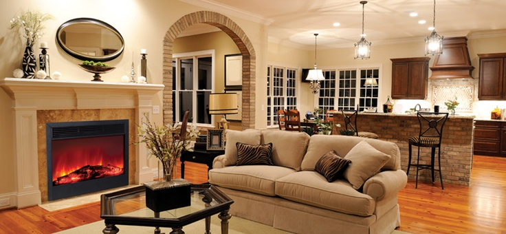 Electric Fireplace Living Room Pinterest Beautiful