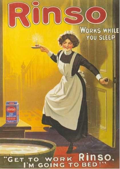 Rinso, Washing Powder Maids Products Detergent, UK (1910)