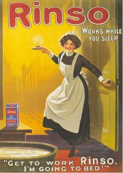 Rinso, Washing Powder Maids Products Detergent, UK (1910)