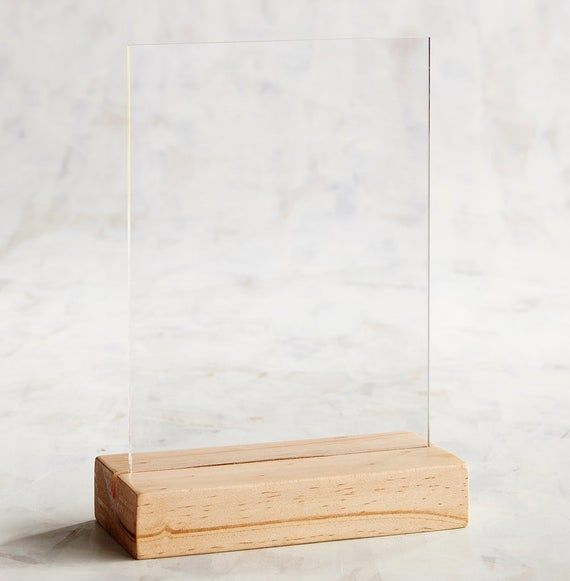 Clear Acrylic Blanks 5x7 Diy Signage Acrylic Signage Wood Stand Glass Signage