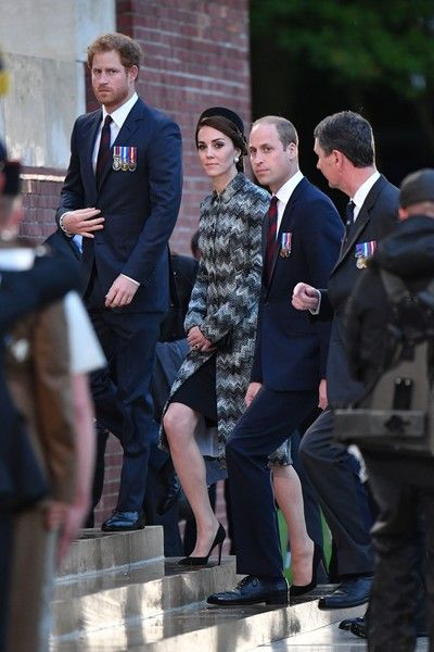 Kate Middleton Photos - ALBERT, FRANCE JUNE 30: Prince Harry, Catherine, Duchess of Cambridge and Prince William, Duke of Cambridge attend the Somme Centenary commemorations at the Thiepval Memorial on June 30, 2016 in Albert, France. - Royal Family Attend The Somme Centenary Commemorations In France