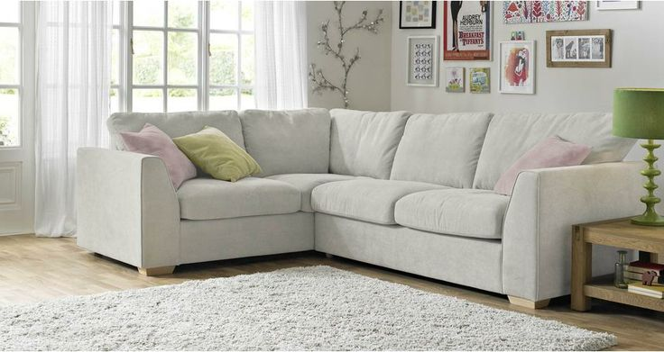 Right Hand Facing 2 Seater Corner Sofa Sherbet | DFS