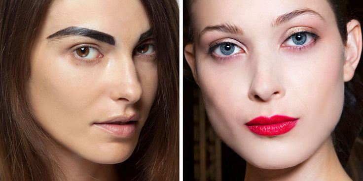 21 Beauty Trends That Need to Die in 2015 - Eeeeeek there's buzzards on that poor girls brows!  Soft n feathery on the money:)