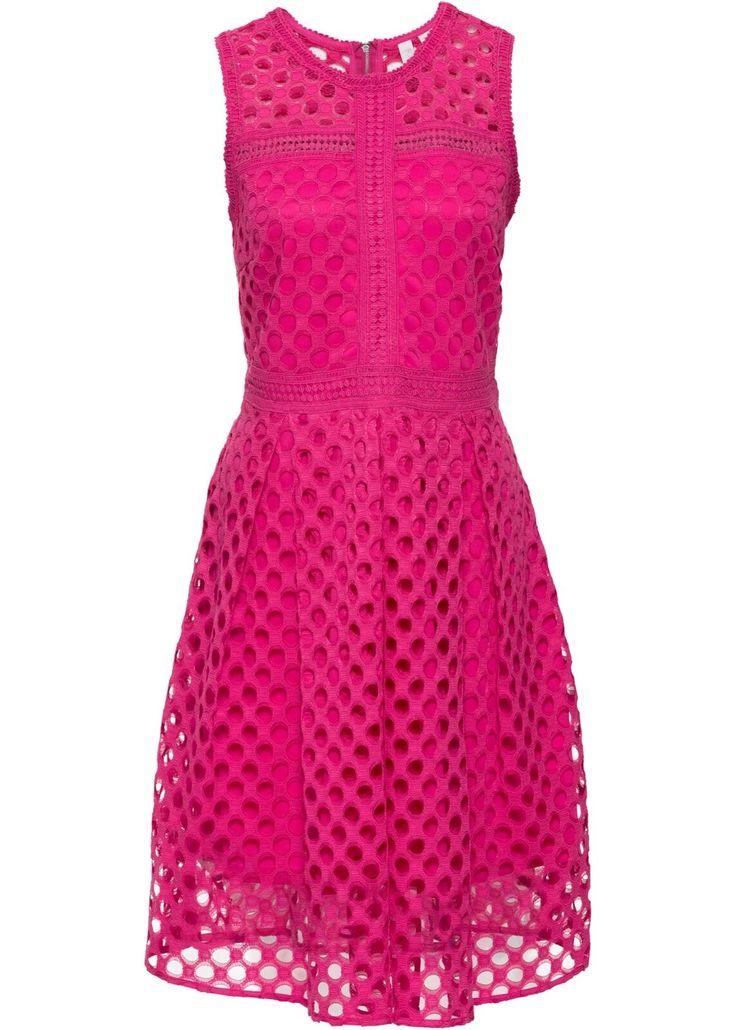Neu Cocktail Kleid Mit Lochmuster Und Tellerrock 246644 In Pink 40 Rotes Kleid Ideen Von Rotes Kleid Roteskleid Rotes Kleid Kleider Damen Rock Lang