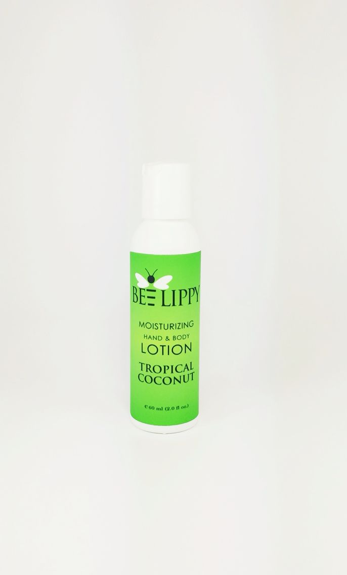 Tropical Coconut Body Lotion. Bee Lippy Natural Skin Care. Made With Love in Vancouver, Canada.
