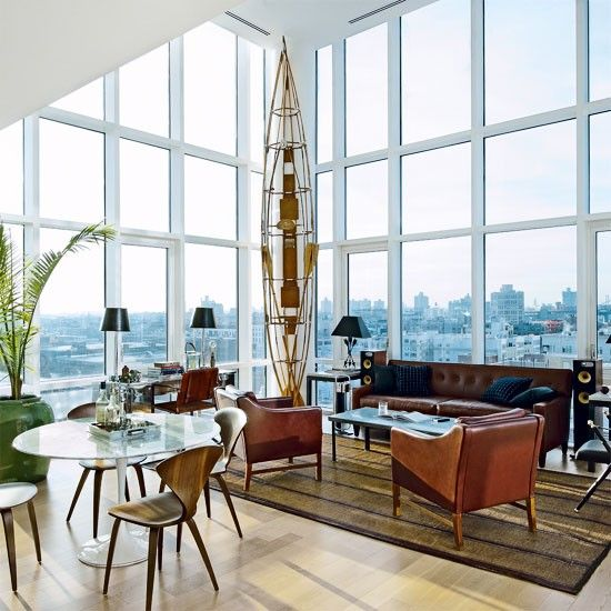 Vintage chic new york penthouse new york home pinterest for Vintage chic living room ideas