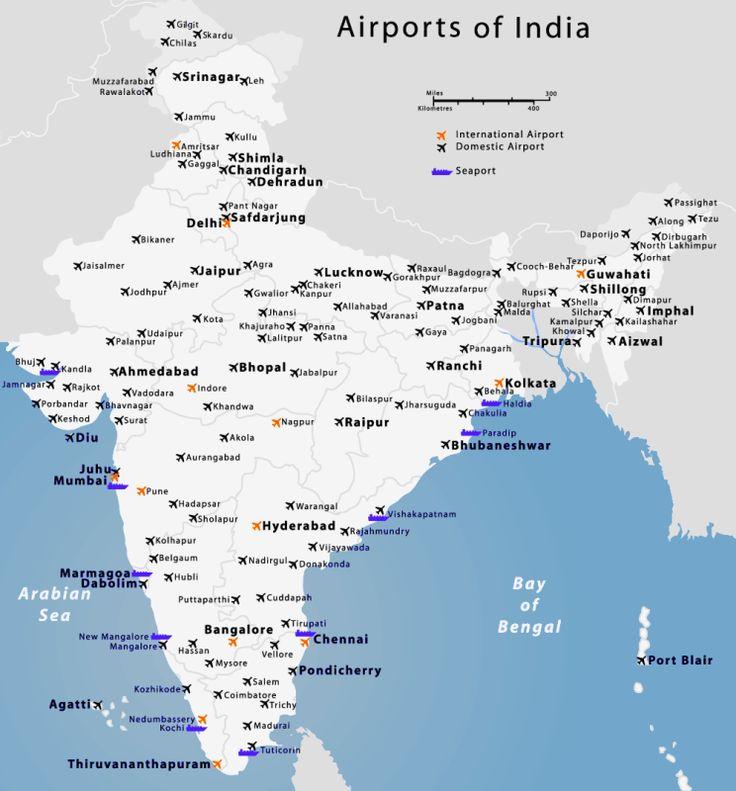 India Airports Map #airportsinindiamap #domestcairportsmapindia #indiaairports http://www.toursoftajmahal.com/blog/india-airports-map/