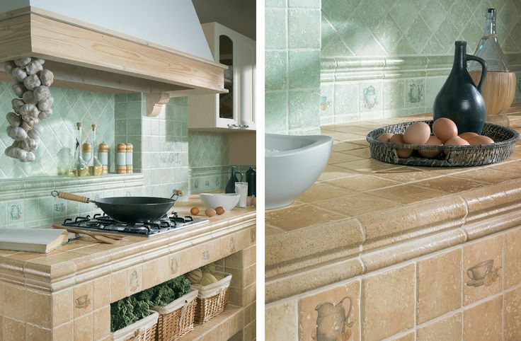 Tretto/Tryton Beige, Zefir - kitchen tiles with traditional motifs - Paradyż Group