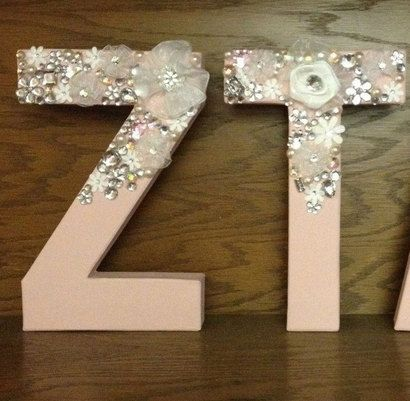 Floral Glitz Sorority Letters GlitzLetterz for the perfect sorority girl!