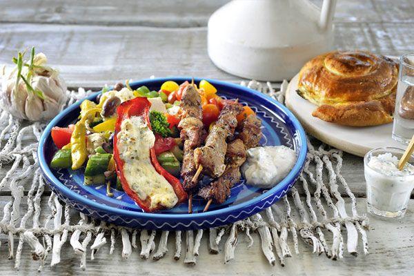 Philips Chef - Souvlaki met Griekse salade en tzatziki