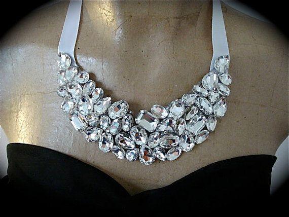 Bib+Necklace+Statement+Necklace+rhinestone+bib+by+TheCrystalRose,+$75.00