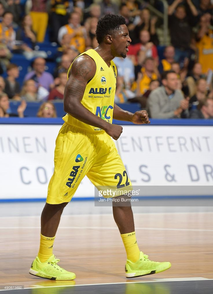 Will Cherry of ALBA Berlin celebrates during the game between Alba Berlin and ratiopharm Ulm on october 1, 2015 in Berlin, Germany.