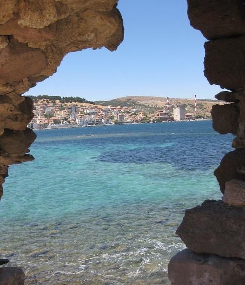 View to the sea - Lesvos island, #Greece