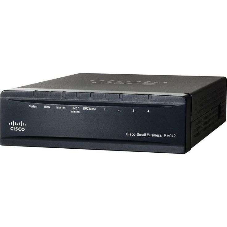 Cisco RV042G Dual GigaBit WAN VPN Router With 4-Ports GigaBit Ethernet Switch RV042G-K9-NA