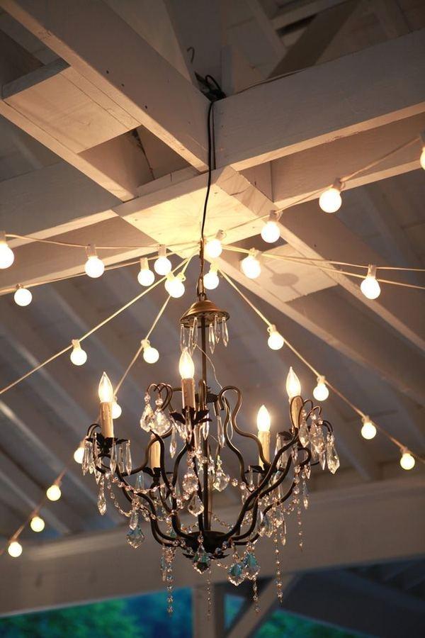 String Light Chandelier: 1000+ images about Wedding Lights & Lanterns on Pinterest   Dance floors,  Receptions and Paper lanterns,Lighting