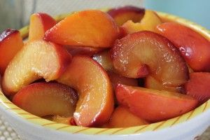 Peach, Nectarine, and Plum Compote with Thyme, Honey and Ginger