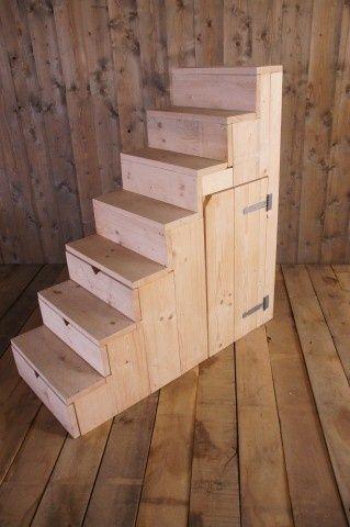 25 beste idee n over meisje hoogslapers op pinterest jongens hoogslapers kinderen zolder - Stapelbed met opslag trappen ...