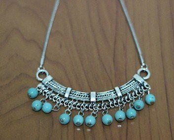 Bohemia  Collier Jewelry Vintage Turquoise Retro Drop Necklace & Pendant for Women