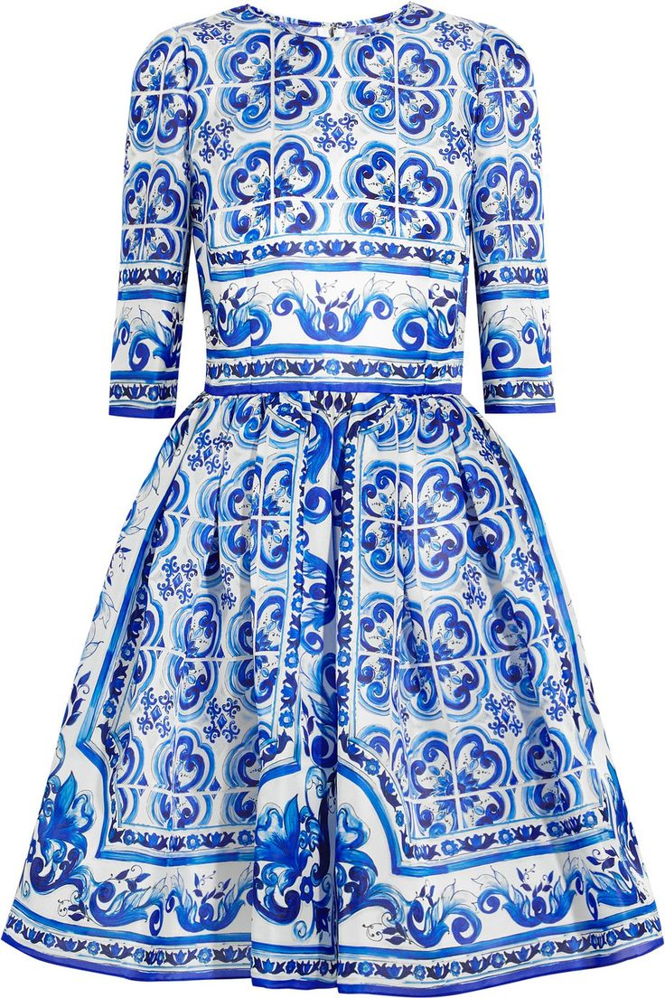 Dolce & Gabbana | Printed silk mini dress | NET-A-PORTER.COM