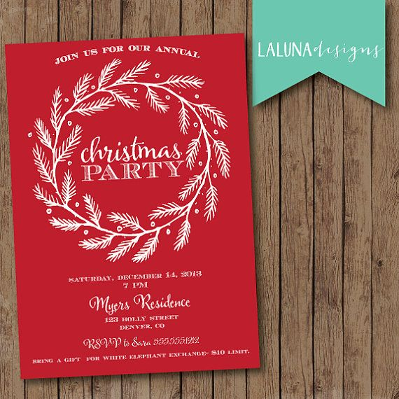 46 best images about Christmas Invitations – Diy Christmas Party Invitations