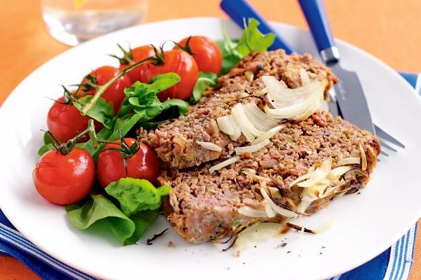 Children will love this healthy, veggie filled meatloaf.