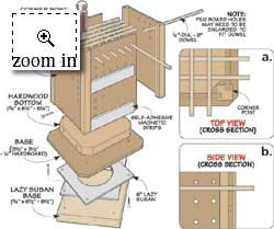 Lazy Susan Tool Caddy Diagram | Projects & Random Stuff | Pinterest | Diagram, Lazy and Woodworking