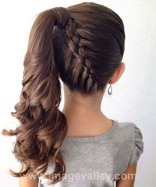 Great Stylish Braided Ponytail Hairstyles 2016 for Little Girls | Image Valley