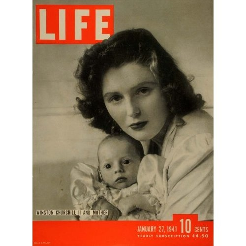 Pamela Churchill with her baby, Winston II.  (Life Magazine cover, 1941)