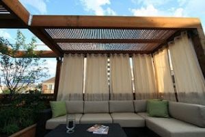 Yard+Fence+Ideas | outdoor curtains privacy screen by Katpower