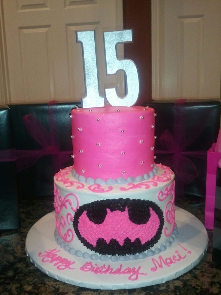 Batman Cake For My Baby Girl Party Time Bat