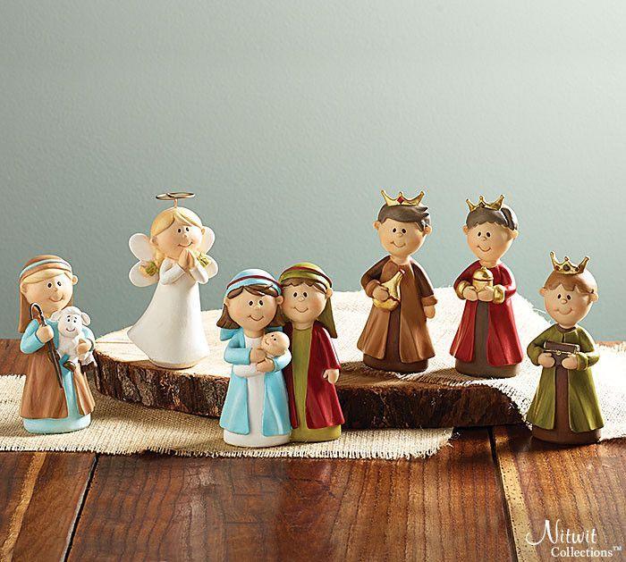 Child-Like Christmas Nativity Set