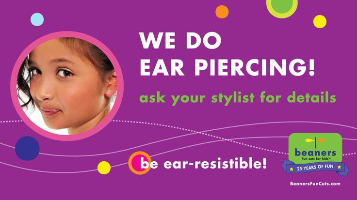 Did you know we do ear piercing?