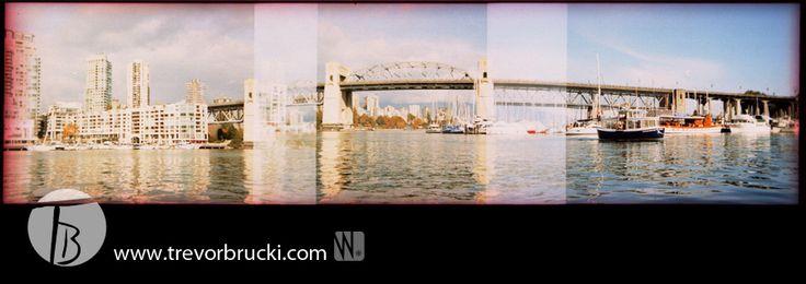 Holga 35mm Panoramic: Granville Island, Vancouver
