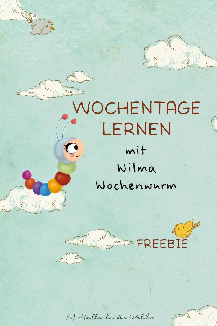 Learn Weekdays with Wilma Weekly Worm (Learning Story & Printable)