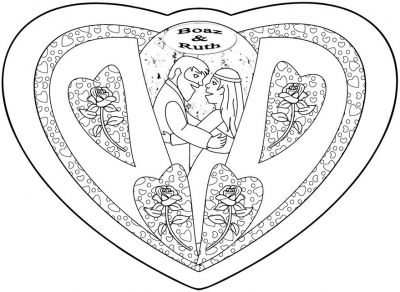 Ruth naomi orpah coloring coloring pages for Ruth and boaz coloring pages
