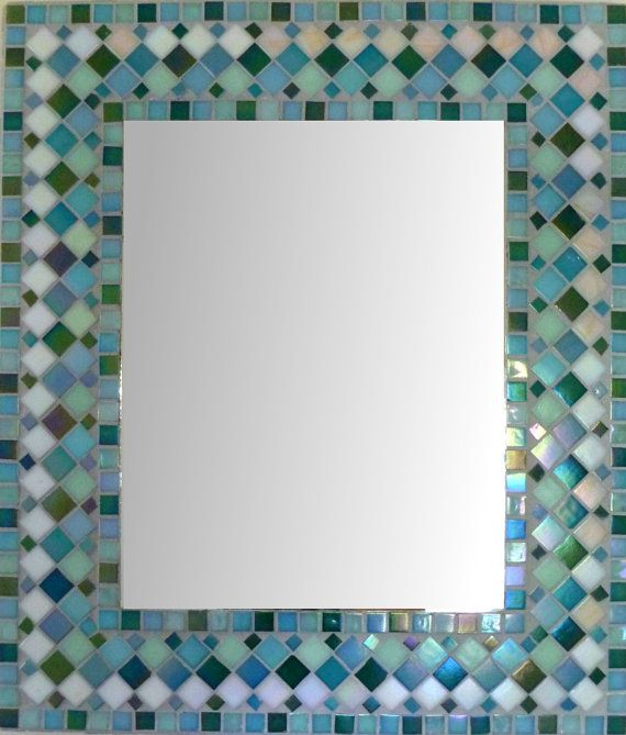 MIRROR MOSAIC Rectangular or Square  Wall  Mirror by SunAndCraft, $149.00