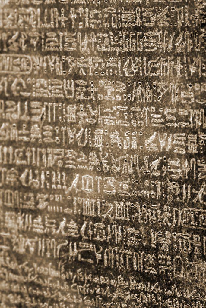 Rosetta stone closeup - London, England