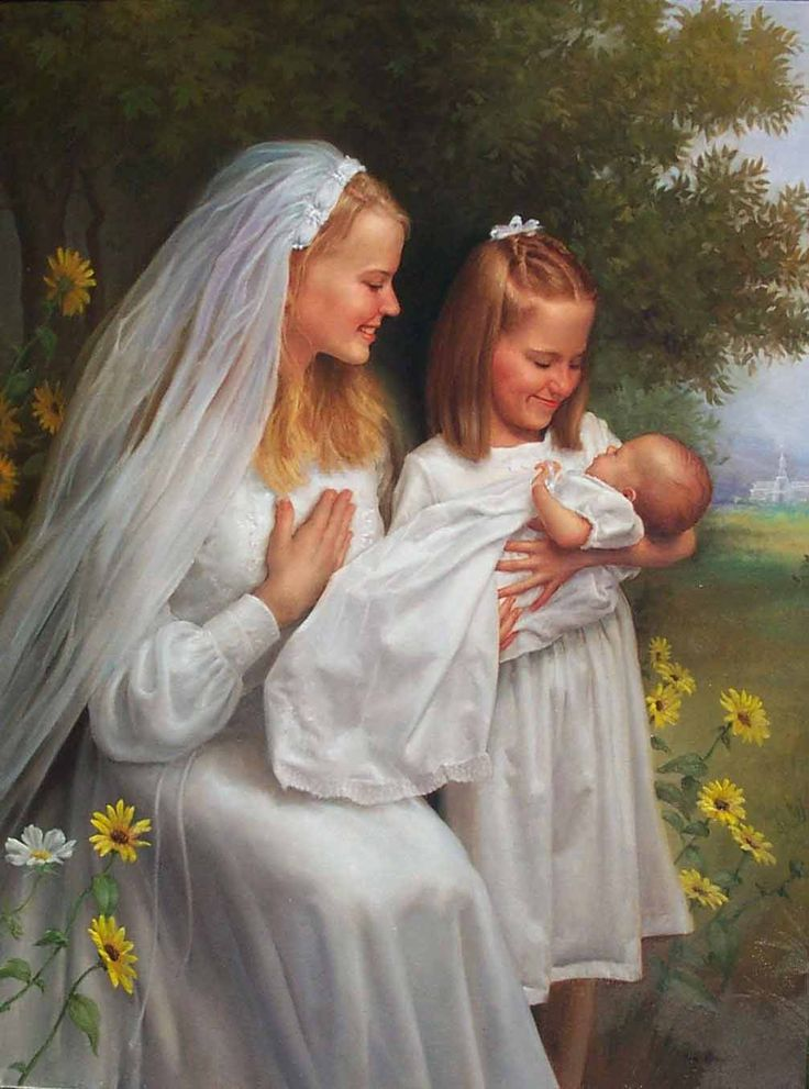 """Three White Dresses- Wedding, Baptism, and Blessing  """" Finally I found a good picture for the poem!!! niceeeee!!! Gracias!"""