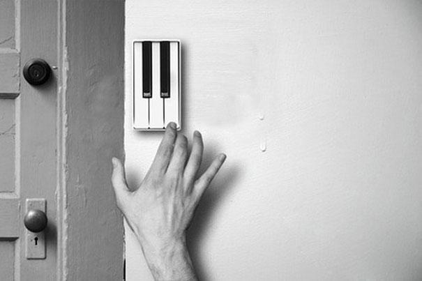 18.) Piano doorbell.