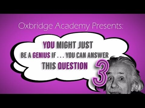 You Might Just Be A Genius If You Can Answer This Question - YouTube
