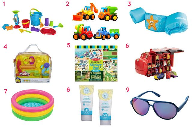 Beach essentials for a 2-year-old