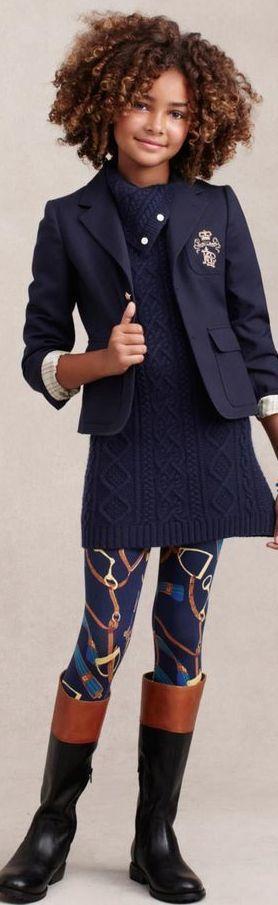 Ralph Lauren moda infantil de invierno - love the cross design on  the jacket pocket