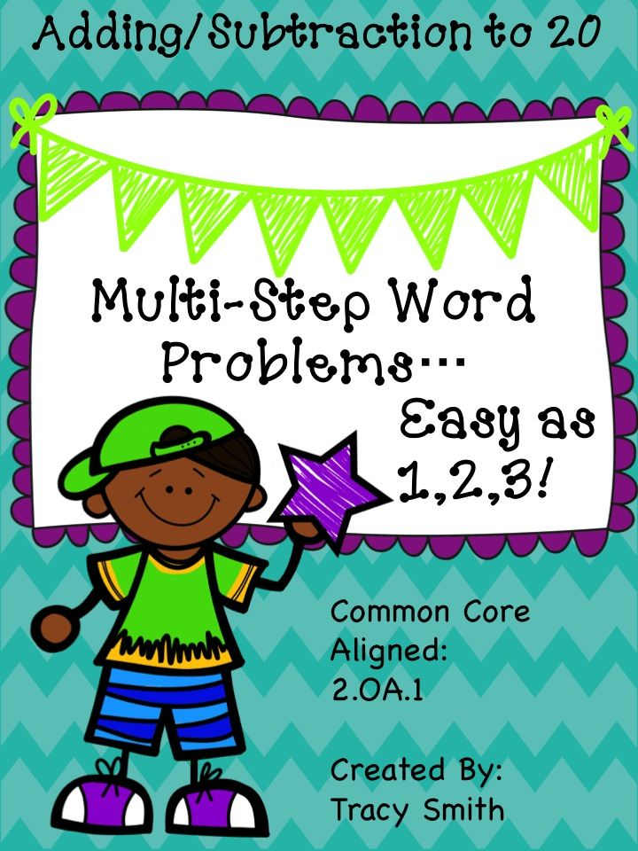 Multi Step Word Problems Adding And Subtracting To 20