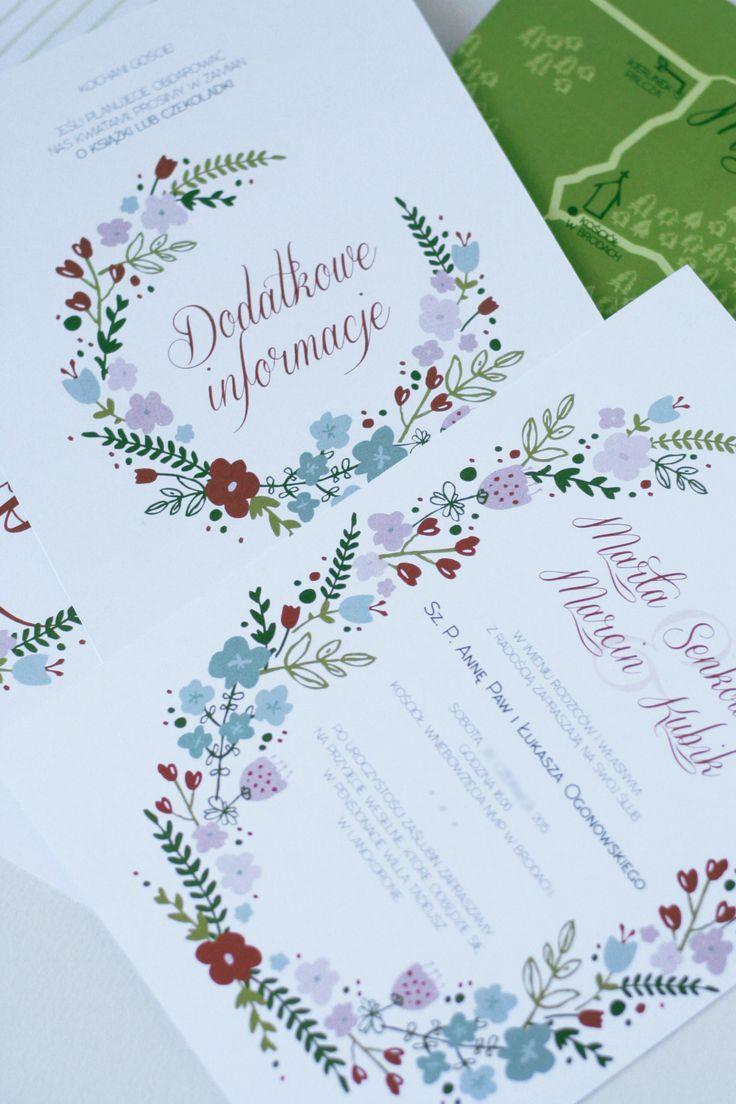 WIŁA WIANKI... wedding invitations by AKURATNIE kwiaty   www.akuratnie.com.pl  www.facebook.com/akuratnie.kwiaty  www.instagram.com/akuratnie.dw