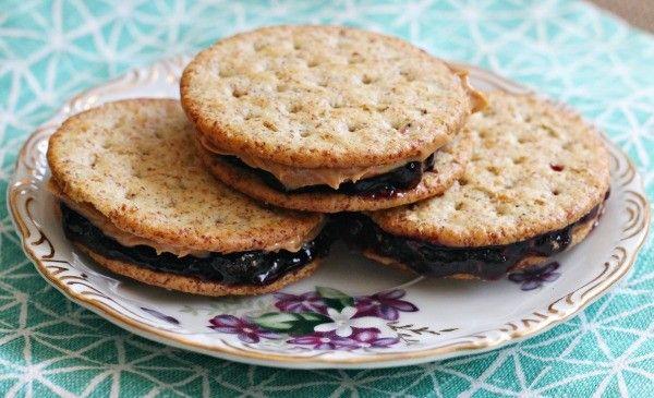 PB&J Cracker Sandwiches on Breton Crackers (sponsored)