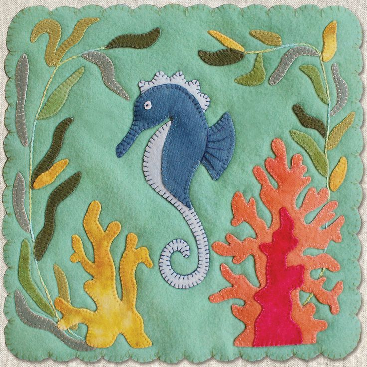 """Dancing Seahorse"" by Betsy Lou Patterns"