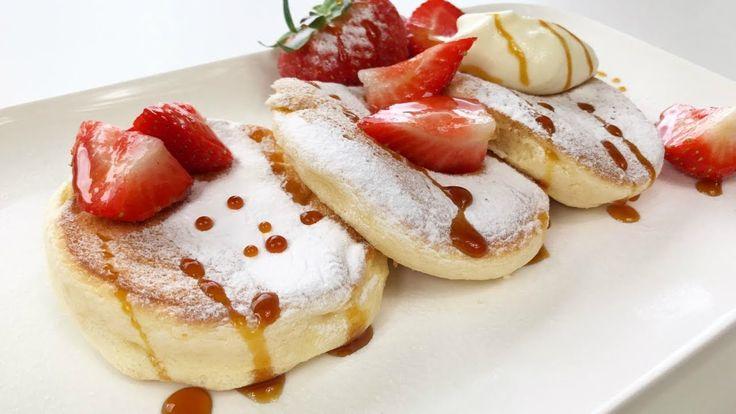 Souffle Pancakes Recipe | Resepi Pancake Gebu