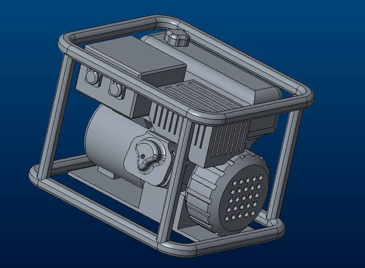 Scale 1/10 petrol generator 3D printable model by Gekon3Dprint on Etsy